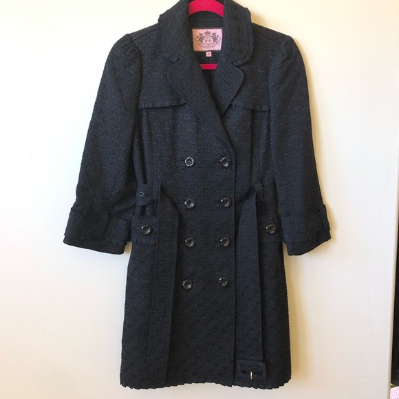 Juicy Couture Jackets & Blazers - Juicy Couture Double Breasted Textured Trench Coat